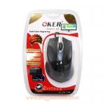 USB Optical Mouse OKER (A7) Black/Blue