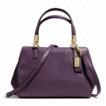 COACH MADISON MINI SATCHEL IN LEATHER # 49720 สี LI BLACK VIOLET