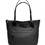 COACH POPPY SIGNATURE C MINI OXFORD SMALL TOTE # 25051สี BLACK