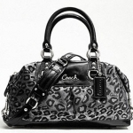 กระเป๋า COACH Ashley Ocelot Satchel Leopard Bag Purse # 15520