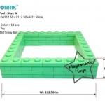 US-6003 ตัวต่อขนาดใหญ่ Macrobrik Snow ball pool size:M 1x2 (64 pcs.)สีเขียว พร้อมลูกบอล285ลูก