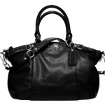 COACH MADISON LEATHER SOPHIA SATCHE # 18609 สี Silver Black