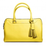 Coach  legacy perforated leather haley satchel #  23574 สี Silver / Lemon