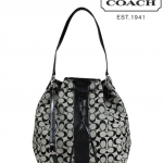 COACH 30581 SIGNATURE STRIPE DRAWSTRING SHOULDER BAG # 30581