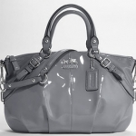 Coach Madison Patent Sophia Satchel #15921 Grey