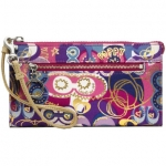 COACH Poppy Pop C Large Zip Zippy Wallet # 46344