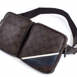 COACH HERITAGE STRIPE HIP BAG # 70337