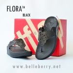 **พร้อมส่ง** รองเท้า FitFlop FLORA : Black : Size US 6 / EU 37