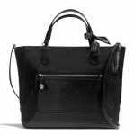 COACH POPPY TEXTURED PATENT SMALL BLAIRE TOTE # 25042 สี Black