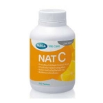 Nat C 1000 mg 150 แคปซูล ช่วยสร้างคอลลาเจน บำรุงผิวและลดรอยแผลเป็น