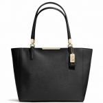 COACH MADISON EAST/WEST TOTE IN SAFFIANO LEATHER # 29002 สี  BLACK