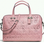 Coach 27392 TAYLOR EYELET LEATHER SATCHEL # 27392 สี TULLE PINK