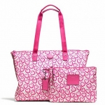 COACH GETAWAY PACKABLE WEEKENDER  # 77539 สี Pink Multi
