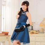 ชุดเพื่อนเจ้าสาวไซส์ใหญ่ผ้าลูกไม้ สีน้ำเงิน XL 2XL 3XL
