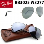 แว่นตา Ray Ban RB 3025 W3277 Crystal Silver Mirror 58mm Lens