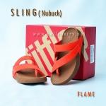 **พร้อมส่ง** รองเท้า FitFlop Sling (Nubuck) : Flame : Size US 8 / EU 39