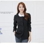 เสื้อสูทสไตล์เกาหลี สีดำ/สีชมพู (XL,2XL,3XL)