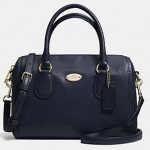 COACH CROSSGRAIN LEATHER MINI BENNETT SATCHEL # 33329 สี LIGHT GOLD/MIDNIGHT