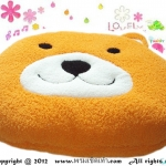 เบาะรองนั่งแฟนซี-หมี-สีส้ม