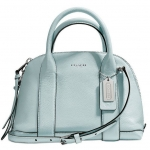 Coach Bleecker Mini Preston Satchel in Pebbled Leather # 30143 สี SEA MIST