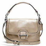 Coach Taylor Leather Flap Crossbody/Bag #  25206 สี Champagne