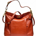 Coach new MADISON LEATHER ISABELLE # 21224 สี BRASS / PERSIMMON