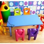 PPTA-1 ชุด โต๊ะนักเรียนเด็กปฐมวัย A1 (รวมเก้าอี้)