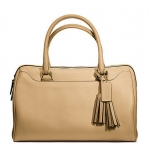 Coach  legacy perforated leather haley satchel #  23574 สี brass/sand