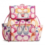 Coach Signature Stripe Scribble Print Backpack # 21962 สี Multicolor