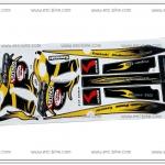 สติ๊กเกอร์ KSR-KITACO ติดรถสีเหลือง