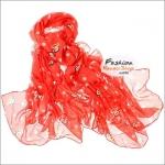 ผ้าพันคอแฟชั่น ลายลิง Paul Frank : สีชมพู CK0393