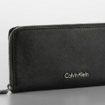CALVIN KLEIN SAFFIANO LEATHER ZIP CONTINENTAL WALLET