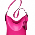 Coach legacy leather duffle # 19889 สี Fucshia