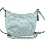 Coach Signature Lurex Pleated Swing Pack # 44744 สี SV/Slate