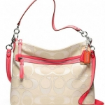 Coach Poppy Metallic Outline Perri Hippie Crossbody # 22456 สี Khaki/Cyclamen สำเนา