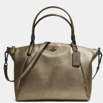 COACH METALLIC LEATHER SMALL KELSEY SATCHEL # 33736 สี Metallic Gold