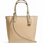 COACH MADISON MINI NORTH/SOUTH TOTE IN SAFFIANO LEATHER # 29901 สี LIGHT GOLD/TAN