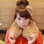 """""""พร้อมส่ง""""เสื้อผ้าแฟชั่นสไตล์เกาหลีราคาถูก Brand Chuvivi ปกเสื้อขนสัตว์เทียม ติดกระดุม ไว้ใส่กับเสื้อโค้ทกันหนาวอุ่นๆคอค่ะ"""