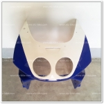 หน้ากาก NSR-R สีน้ำเงิน/ขาว