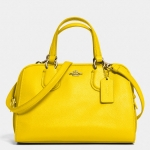 COACH MINI NOLITA SATCHEL IN LEATHER # 33735 สี YELLOW