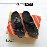 * NEW * FitFlop GLITTEROSA : Black : Size US 5 / EU 36