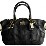 Coach Madison Gathered Leather Sophia Satchel # 15942  Brass Black