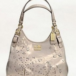 Coach new MADISON TOSSED LASER CUT MAGGIE # 19628
