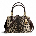 COACH MADISON MINI SATCHEL IN OCELOT PRINT FABRIC # 49969