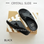 * NEW * FitFlop CRYSTALL Slide : Black : Size US 6 / EU 37