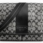COACH HERITAGE MEN BROWN CROSSBODY MESSENGER BAG # 70590 สี Black