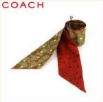 COACH LAURA SECRET ADMIRER RED PONYTAIL SCARF # 97499
