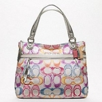 Coach New Poppy Dream C Glam #19023 สี Silver / Multicolor