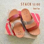 **พร้อมส่ง** FitFlop Stack Slide : Dark Tan : Size US 8 / EU 39