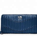 Coach madison gathered leather accordion wallet # 46481 สี  BRIGHT MARINE